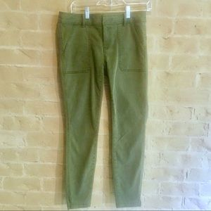 {LOFT} Olive Green Slim-Fit Chino Ankle Pants